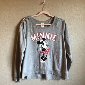 Minnie Mouse Oversized Gray Sweater NWT